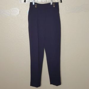 H&M Trousers Dark Blue Size 2 with Gold Buttons